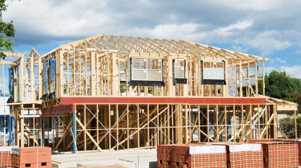 New-residential-construction-home-wooden-framing
